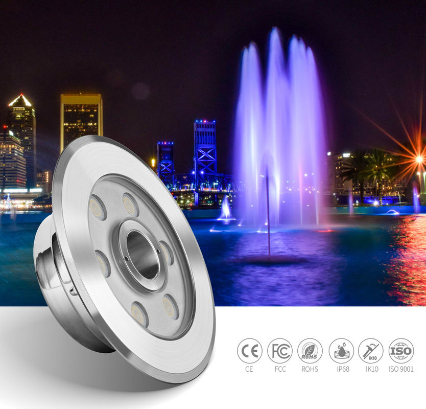 External Control SS316L DC24V Led Pool Fountain Lights SMD3535